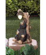 BLACK BEAR with Lighted Acorn Solar Statue Outdoor Decor - $25.44