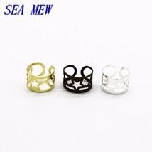 SEA MEW 100PCS 9mm*6mm Unisex Punk Ear Cuff Wrap Earrings Jewelry Clip On Earrin - $19.91