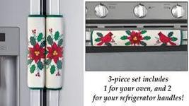 Poinsettia Appliance Handle Covers - Set of 3 - $12.91