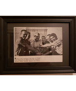 Original clipping of the Mercury Astronauts together in 1962! Framed and... - $12.99