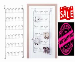 Shoe Rack Organizer Wall Mount Hang Storage Closet Home Door Hanger Wire... - $23.76