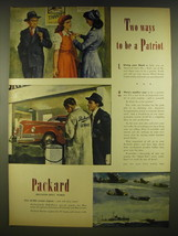 1945 Packard Rolls Royce Aircraft Engines Ad - Mustangs, Mosquitoes, Lancasters - $14.99