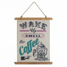*18390B  Wake Up Smell The Coffee Linen Wall Art - $18.65