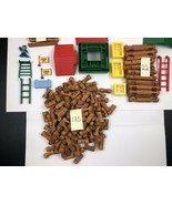 Lincoln Logs Building Lot Of 191  6lbs - $12.92