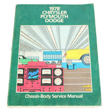 Chrysler Plymouth Dodge Mopar 1978 Chassis Body Service Manual - $22.23