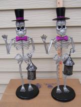 Halloween Skeleton Glitter Couple With Purple T... - $29.69