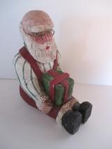 VTG Resin Santa Claus 1989 EZ E. Zimmerman Sitting Santa Figure - $14.84