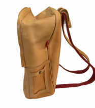 """Vintage BREE Bag Tan Leather Backpack Bag Day Pack 14.5"""" H x 12"""" W x 6"""" Poland image 9"""