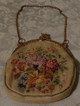 Antique Embroidered Fabric Evening Bag - Very Small Size - Gorgeous Detail -VGC - $69.29