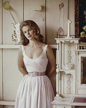 Lee Remick plaid cotton dress pink belt by shelf unit 16x20 Canvas - $69.99