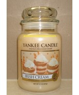 Yankee Candle Irish Cream 22 Oz Large Jar White Label Housewarmer Scented - $26.00
