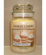Yankee Candle Irish Cream 22 Oz Large Jar White Label Housewarmer Scented - $26.00