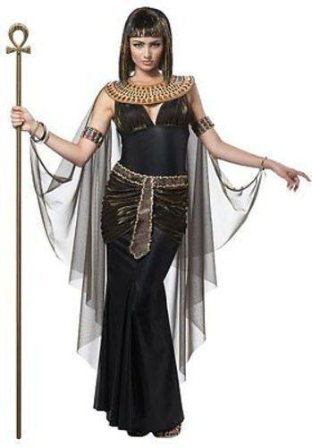 Donne Adulte Cleopatra Regina Faraone Egiziano Storia Costume Halloween 01222