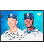 1994 Upper Deck Mickey Mantle/Ken Griffey Jr. Facsimile Autograph Reprin... - $9.85