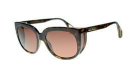 Gucci GG0468S 002 Havana Frame Brown Lens Sunglasses Authentic  - $270.63