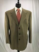 Giorgio Armani Men's Brown Wool Houndstooth Blazer Jacket Sport Coat 43R - $79.99