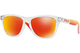 Oakley Frogskins Sunglasses OO9245-7354 Polished Clear |Prizm Ruby Lens  - $151.47