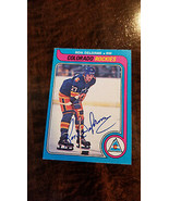1979-80 OPC Signé Auto Carte Ron Chief Delorme Colorado Rockies Canucks ... - $74.87