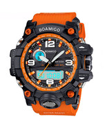 BOAMIGO brand men sports watches dual display analog digital LED Electronic - $15.99