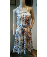 Massimo Dutti Floral Gaze Coton Robe Dos Nu 38/28 - $66.65