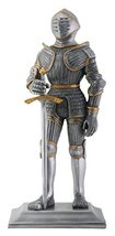 YTC Silver and Gold Gothic Knight Figurine - $32.66