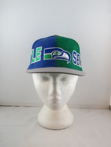 Seattle Seahawks Hat (VTG) - Split Colorblock by American Needle -Adult ... - $125.00