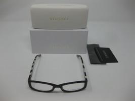 Versace 3144 Authentic Eyeglasses Frames Womens Black Zebra 51 16 135 GB... - $149.99
