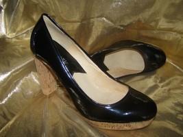 """MICHAEL KORS """"Nash"""" Patent Leather & Cork Pump Shoe Heels SIZE 9 M - $15.99"""