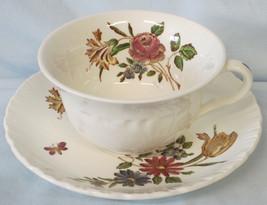Wedgwood Robert Sprays Flat Cup & Saucer Style 2 - $15.73