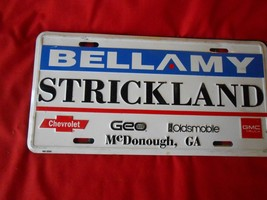Collectible License Plate Tag..BELLAMY /  STRICKLAND Motors-McDonough,Ge... - $12.35