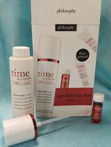 Philosophy TIME IN A BOTTLE Age Defying Face & Eye Duo Anti-Aging Serum ... - $47.01