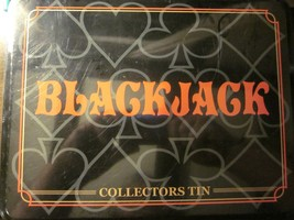 BLACKJACK Collector's Tin (Jax #6080, 2005) Factory Sealed! Learn To Play! - $39.19