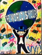 """Alec Monopoly """"THE WORLD IS YOURS"""" HD print on canvas large wall picture... - $29.69"""
