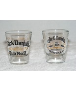 JACK DANIEL'S OLD NO. 7 TENNESSEE WHISKEY CLEAR SHOT GLASSES 2 oz Lot of... - $19.99