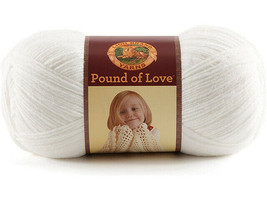 Lion Brand Pound of Love Yarn, White #550 - $10.99