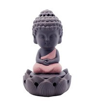 OCIOLI Zen Sitting Incense Burner Home Gift Creative Small Ornaments Cut... - $10.86