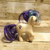 G1 My Little Pony Glory Unicorn Vintage 1983 Hasbro White Rainbow Hair - $7.66