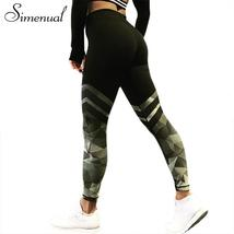 Simenual Harajuku push up fitness legging camouflage stripe bodybuilding... - $24.98
