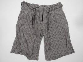 Bcbg Shorts Größe 4 Linien Mischung Hellgrau Grau Streifen mit Gürtel - $25.72