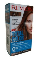 Revlon Total Color Hair Dye 53 Med Gold Brown 100% Grey Coverage PERMANE... - $6.92
