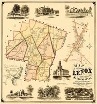 Lenox Massachusetts - Herrleins 1854 - 23 x 24.54 - $36.95+