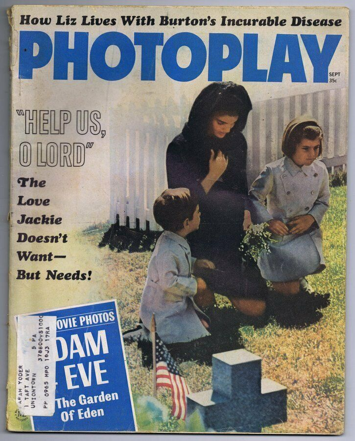 Primary image for VINTAGE September 1964 Photoplay Magazine Jackie Kennedy JFK
