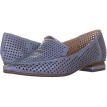 Franco Sarto Starland 3 Pointed Toe Loafers 039, Blue Leather, 8.5 US - $25.91