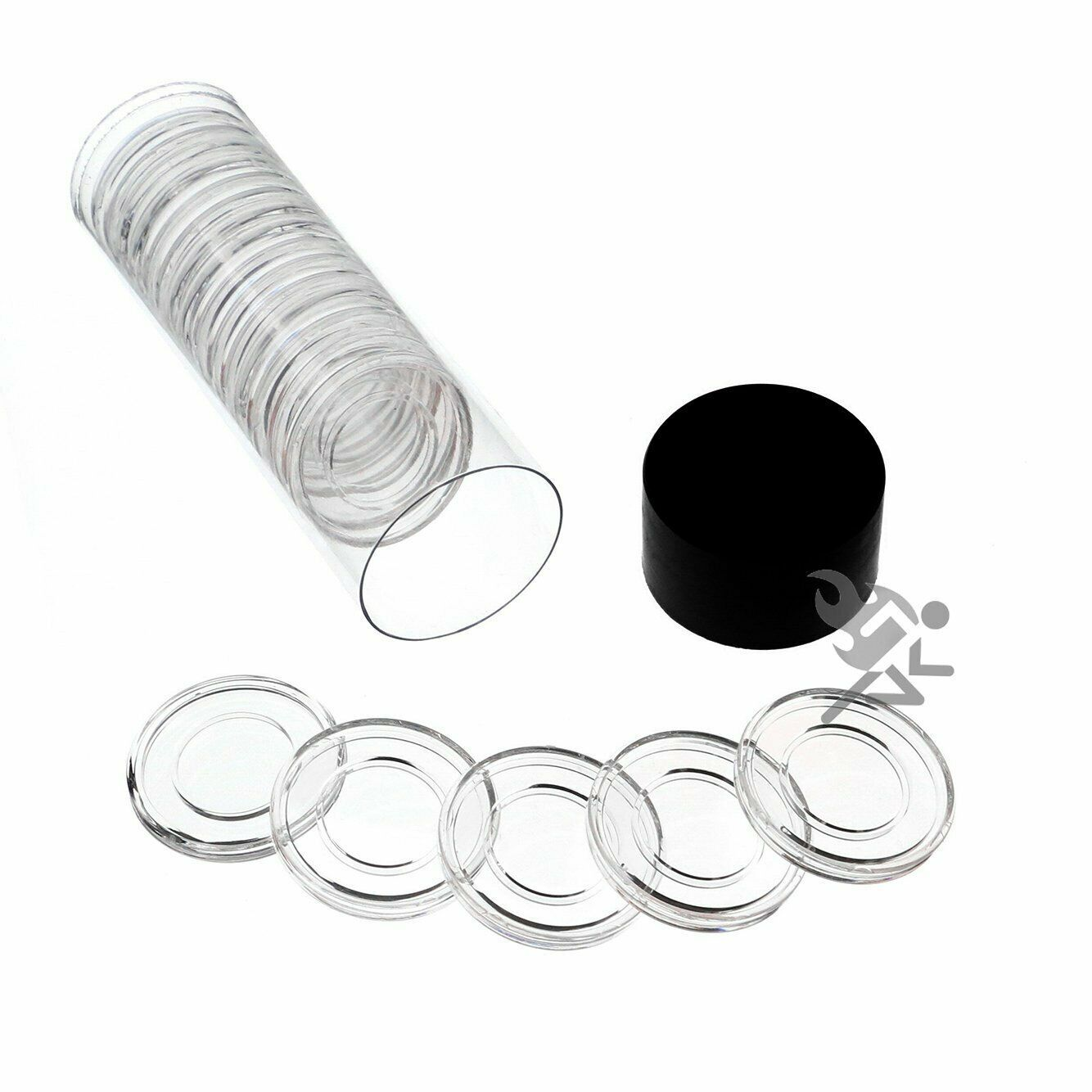 Primary image for Black Lid Capsule Tube & 20 Air-Tite A16 Direct Fit Coin Holders for 1/10oz
