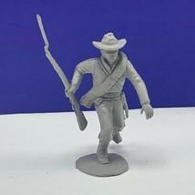 Louis Marx civil war toy soldier gray south confederate vtg figure cowbo... - $16.78