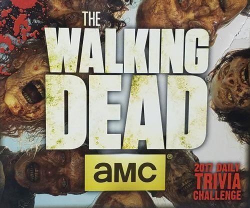 AMC WALKING DEAD 2016 2017 DAILY TRIVIA CHALLENGE CALENDAR SEALED U.S. Seller