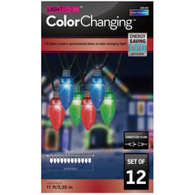 Gemmy 12 Count C9 LED MultiColor SynchroLights Christmas LightShow Strin... - $27.95