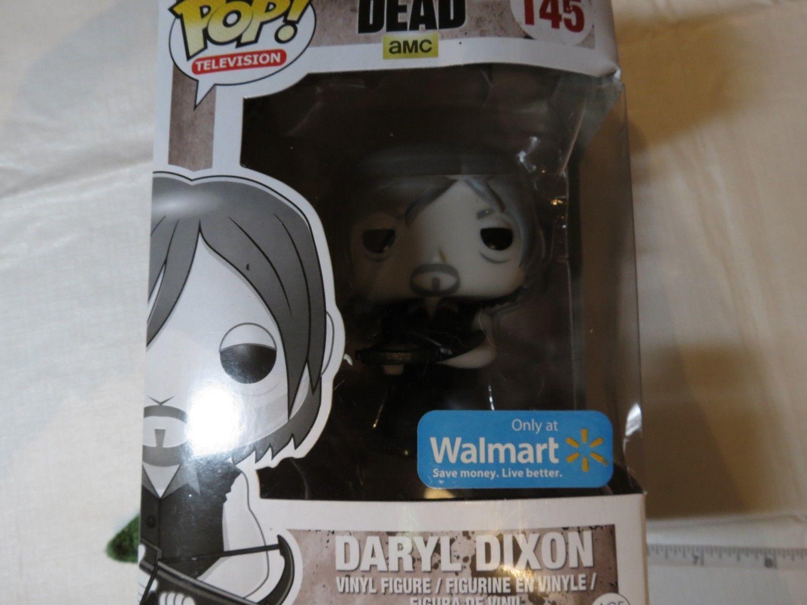 0305b60f3e0 AMC The Walking Dead Daryl Dixon Funko 145 Walmart Pop! Television black  white