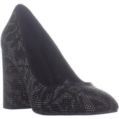 MICHAEL Michael Kors Jamie Pump Classic Heels, Black Leaf Leather