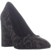 MICHAEL Michael Kors Jamie Pump Classic Heels, Black Leaf Leather image 1